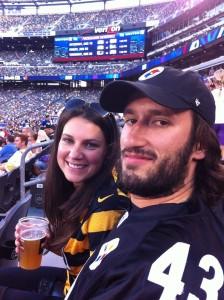 Amanda and Kevin at Steelers Game